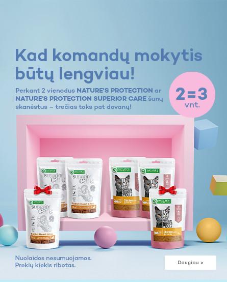 Nature's Protection ir Nature's Protection superior care skanėstai 2=3