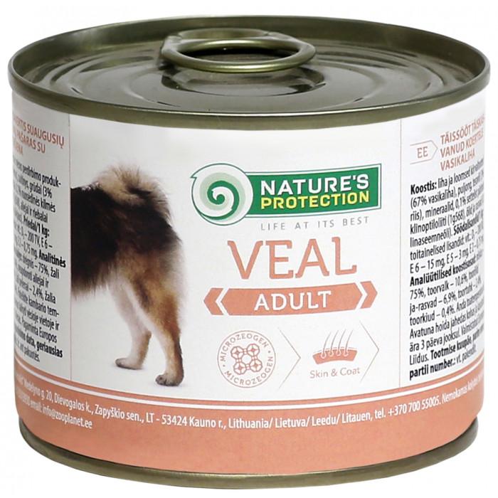 NATURE'S PROTECTION Dog Adult Veal Konservuotas pašaras šunims