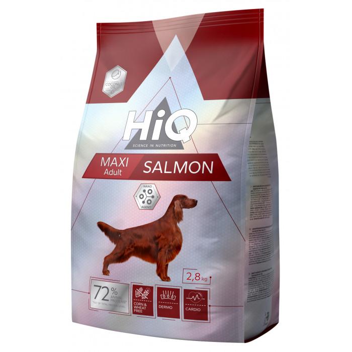 HIQ Maxi Adult Salmon Sausas pašaras šunims