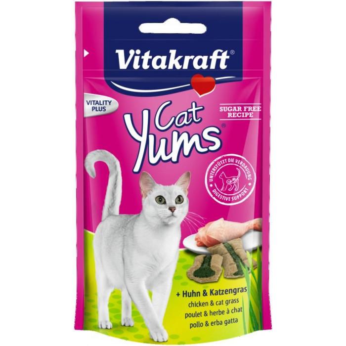 VITAKRAFT Cat Yums Skanėstas su vištiena ir kačių žole