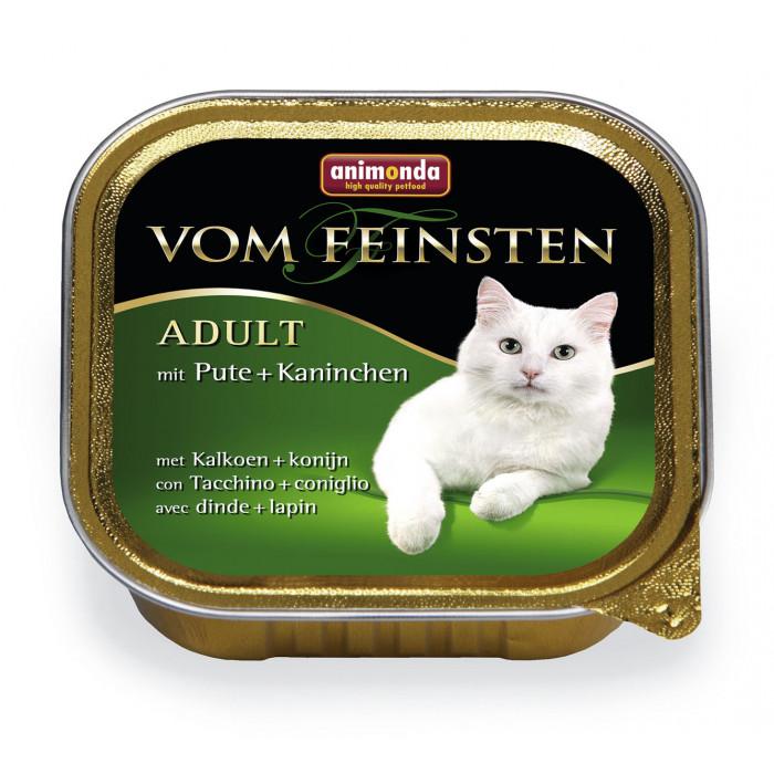 ANIMONDA Vom feinsten classic Konservuotas pašaras katėms su kalakutiena+triušiena
