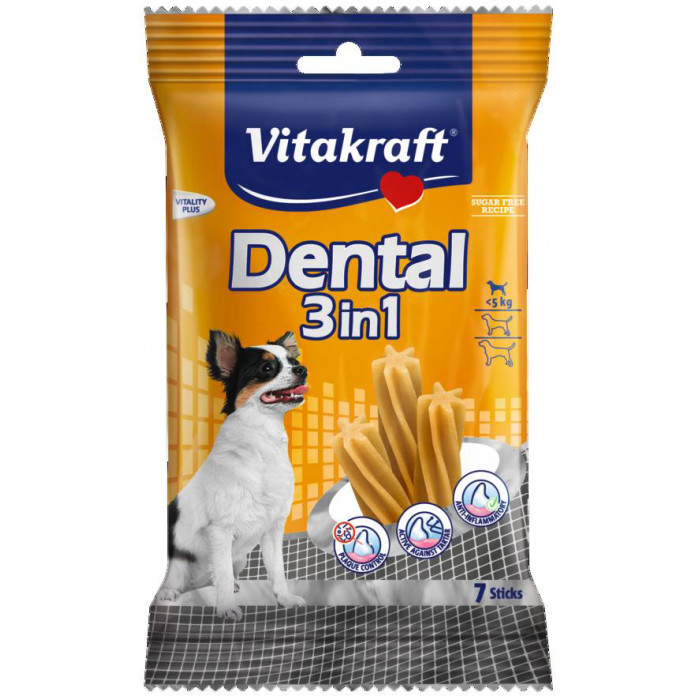 VITAKRAFT Dental 3in1 extra small Pagaliukai šunims
