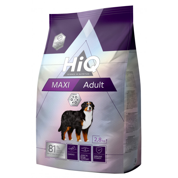 HIQ Maxi Adult Poultry Sausas pašaras šunims
