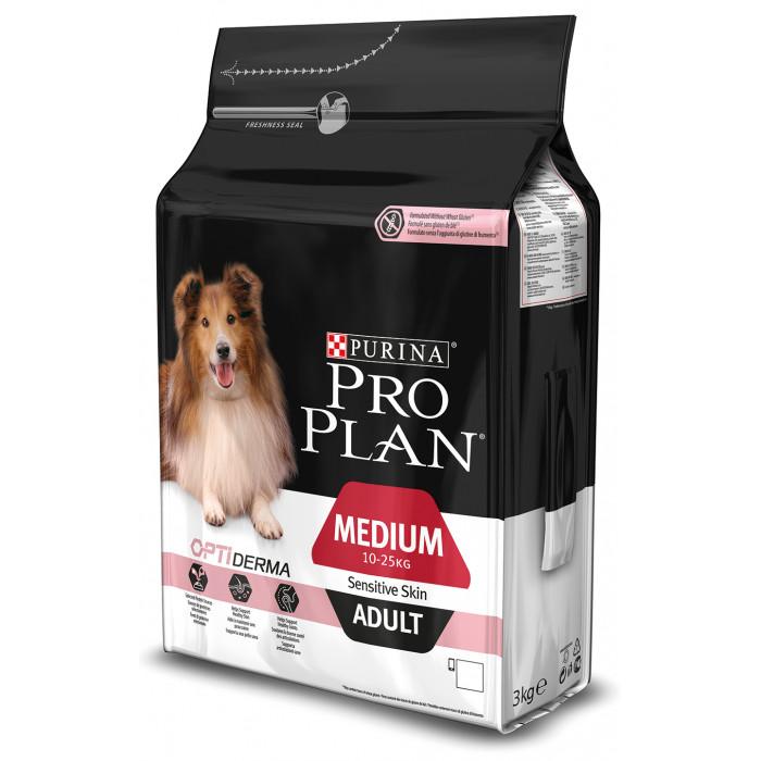 PRO PLAN Sensitive Skin Medium Adult Sausas pašaras šunims