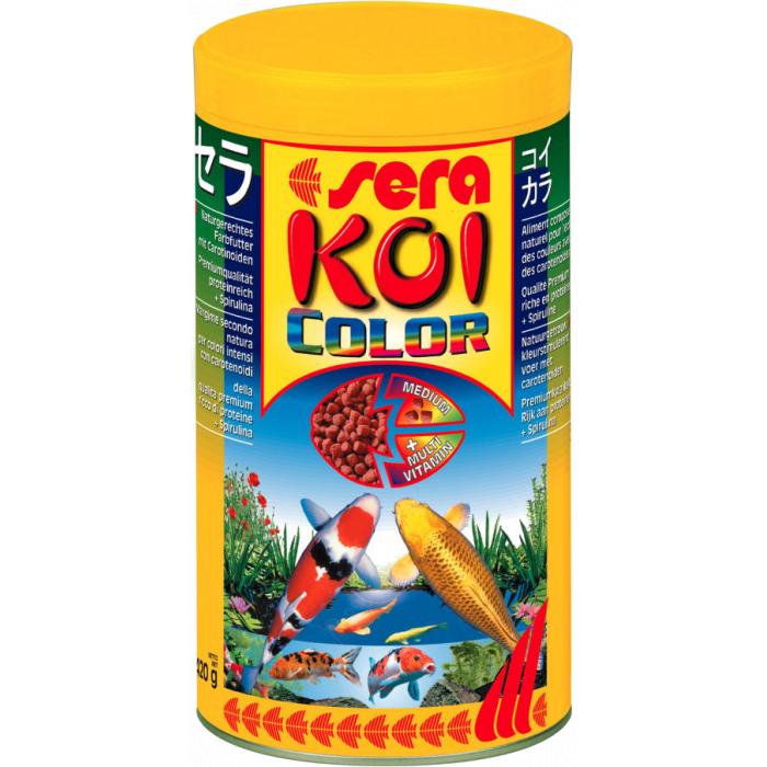 SERA Koi color medium Pašaras japoniškiems karpiams