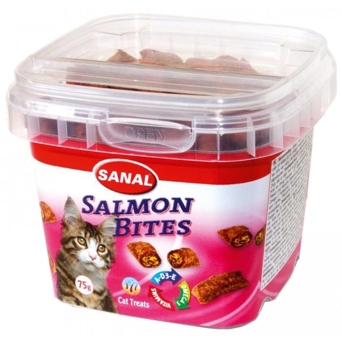 SANAL Salmon Bites Cup Pašaro papildas katėms