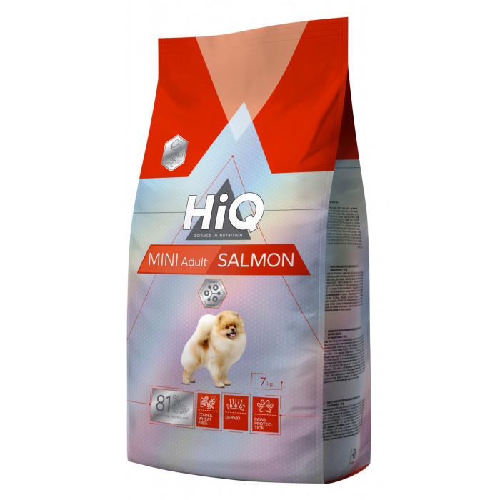 HIQ Mini Adult Salmon Sausas pašaras šunims