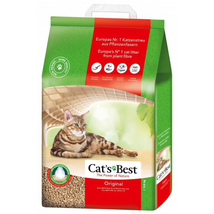 JRS CAT'S BEST ORIGINAL Sušokantis natūralus pjuveninis kraikas