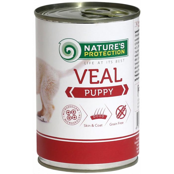 NATURE'S PROTECTION Puppy Veal Konservuotas pašaras šunims