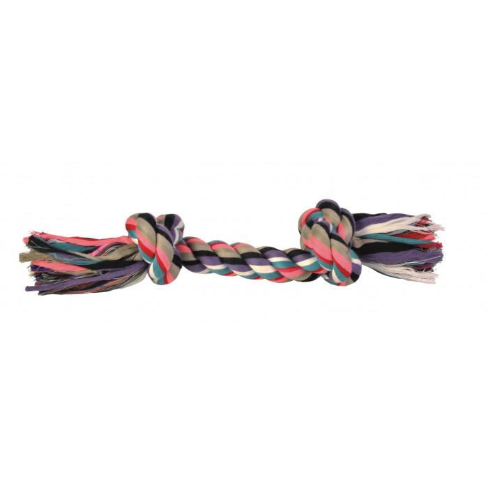 TRIXIE Žaislas šunims susukta spalvota virvė