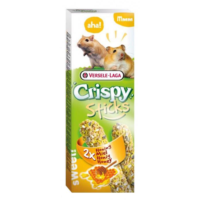VERSELE LAGA Crispy Sticks Žiurkėnams ir smiltpelėms su medumi