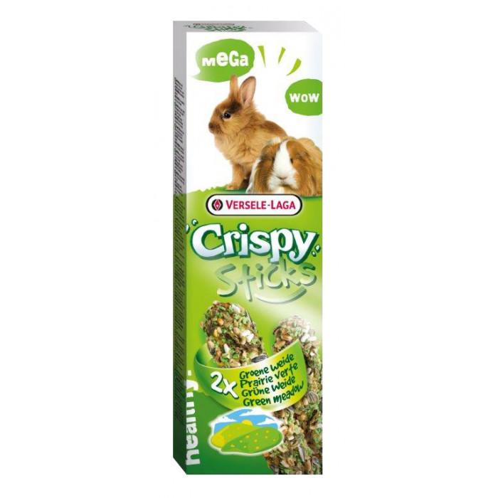 VERSELE LAGA Crispy Mega Sticks Green Meadow Triušiams ir jūros kiaulytėms