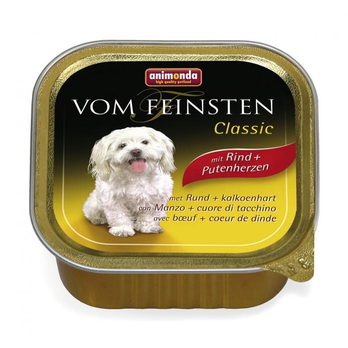 ANIMONDA Vom feinsten classic Konservuotas pašaras šunims su jautiena ir kalakutų širdimis