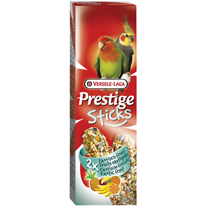 VERSELE LAGA Prestige Sticks Gardėsiai papūgoms su egzotiniais vaisiais