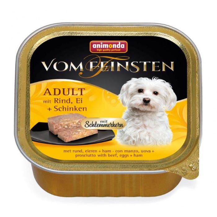 ANIMONDA Vom feinsten schlemmerkern Konservuotas pašaras šunims su jautiena, kiaušiniais ir kumpiu