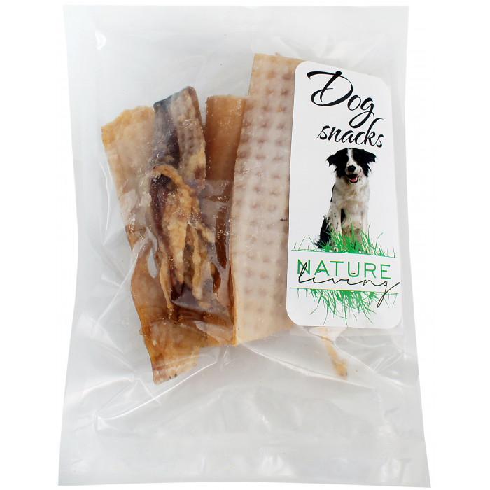 NATURE LIVING Skanėstas šunims Džiovinti kiaulių odos gabaliukai