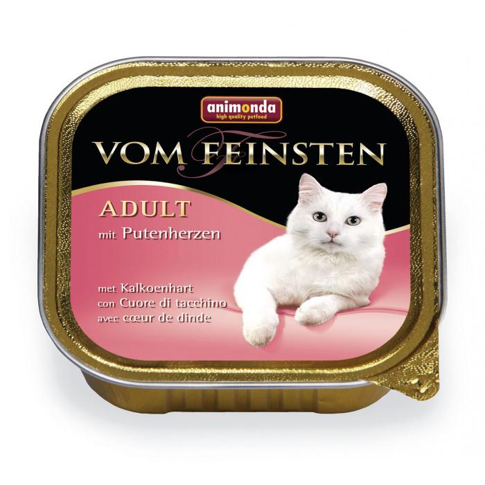 ANIMONDA Vom feinsten classic Konservuotas pašaras katėms su kalakutų širdelėmis
