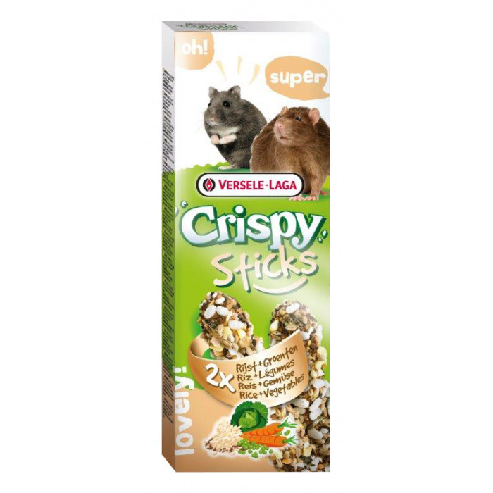 VERSELE LAGA Crispy Sticks Gardėsis žiurkėnams ir žiurkėms