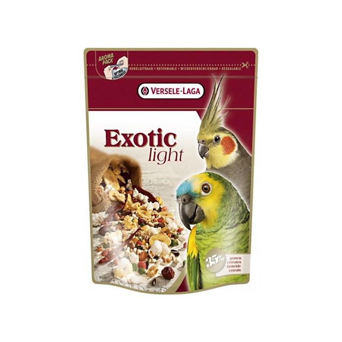 VERSELE LAGA Prestige Premium Exotic Light Lesalas papūgoms su vaisiais ir grūdų sėklomis