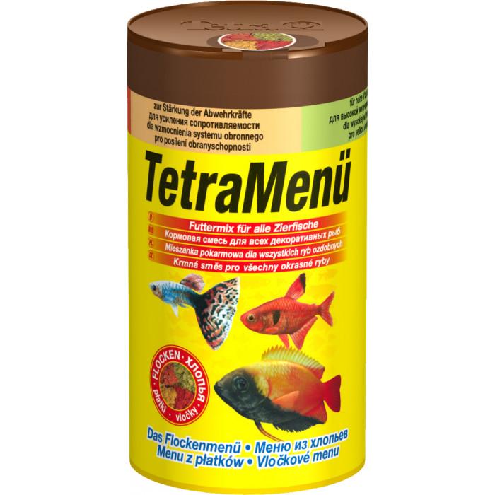 TETRA TetraMenue Futtermix Pašaras visoms žuvims 4rūšys