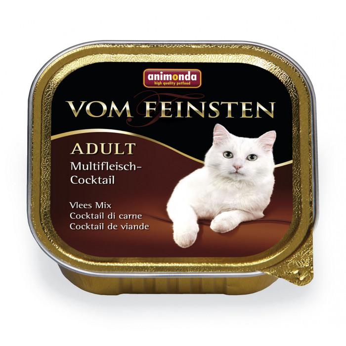 ANIMONDA Vom feinsten classic Konservuotas pašaras išrankioms katėms mėsos kokteilis