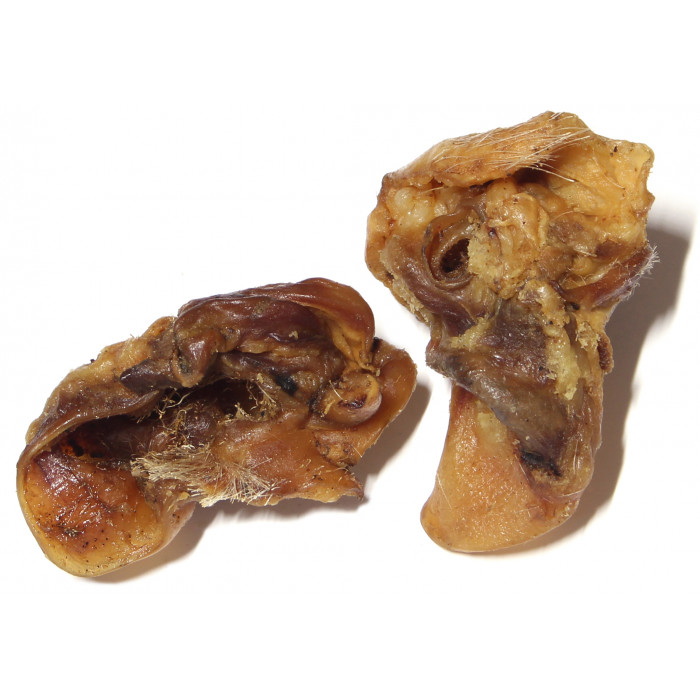 NATURE LIVING Skanėstas šunims Džiovintos vidinės kiaulių ausų dalys