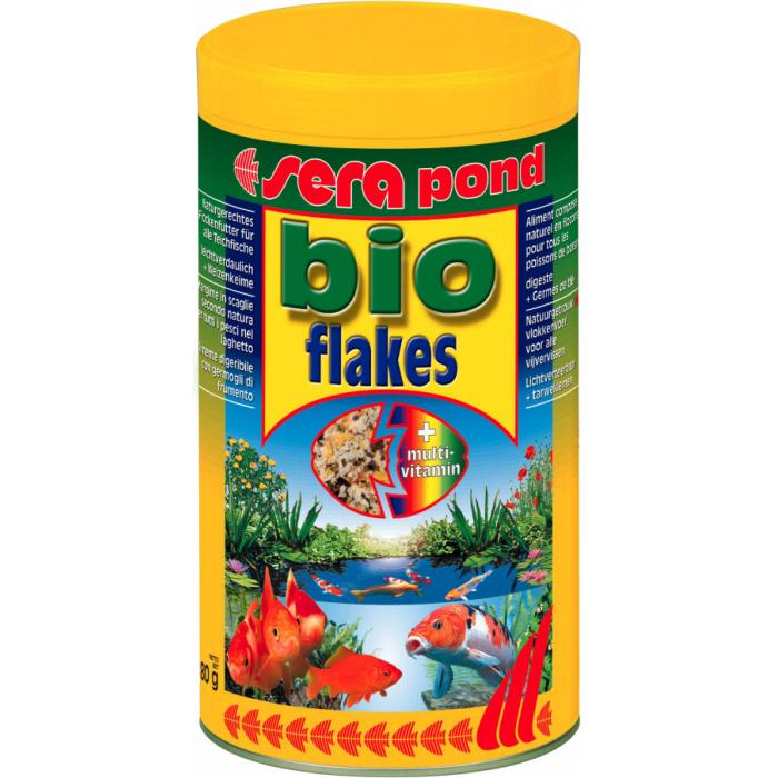 SERA Bioflakes/flakes Pašaras dribsniais visoms tvenkinių žuvims