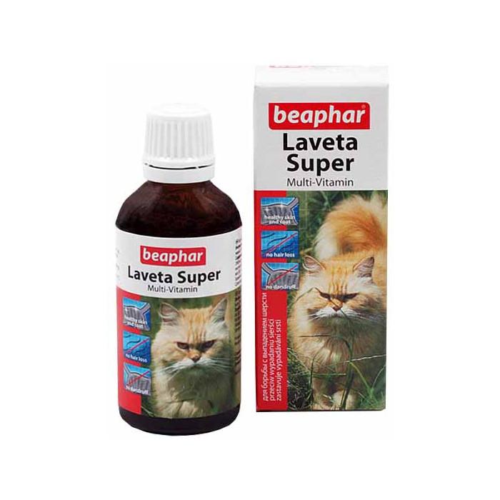 BEAPHAR Laveta super cat Vitaminai plaukui