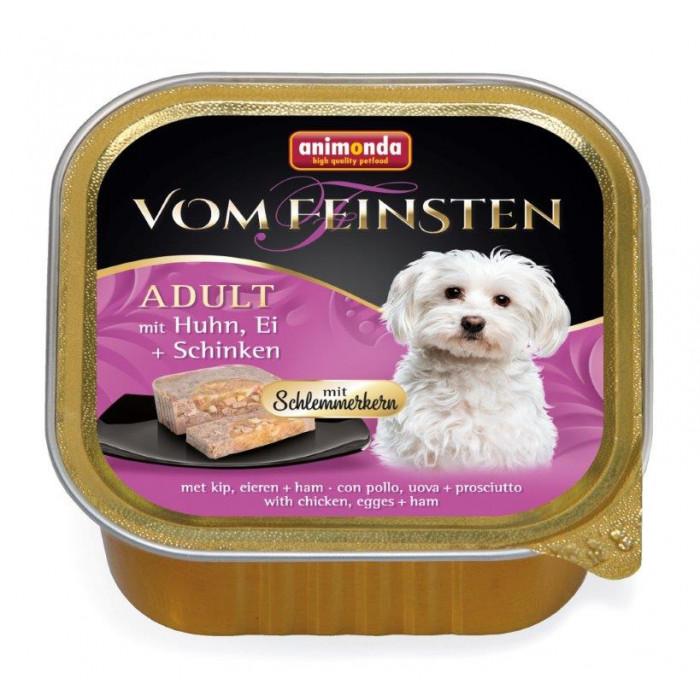 ANIMONDA Vom feinsten schlemmerkern Konservuotas pašaras šunims su vištiena, kiaušiniais ir kumpiu