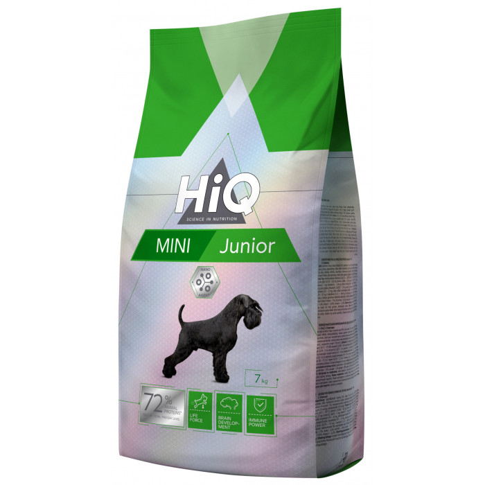HIQ Mini Junior Poultry Sausas pašaras šunims