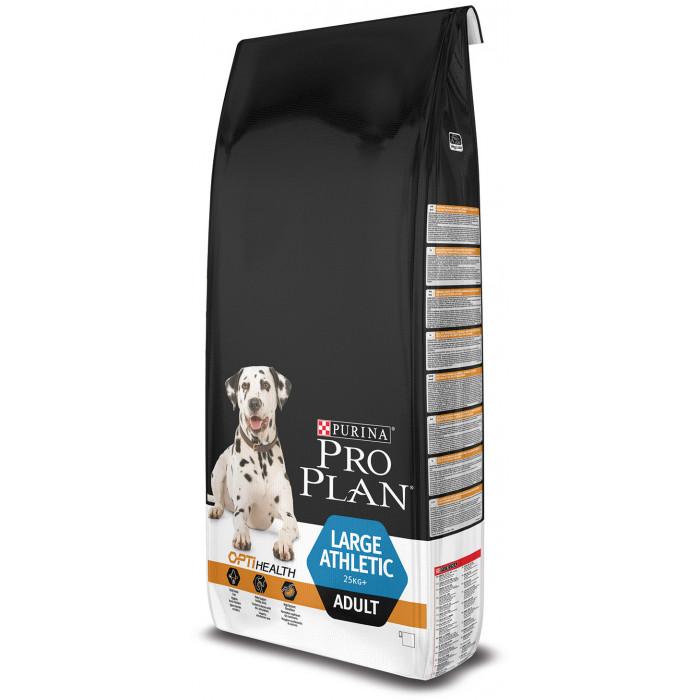 PRO PLAN OPTIHEALTH Large Athletic Adult Dog, pašaras atletiškiems, didelių veislių šunims