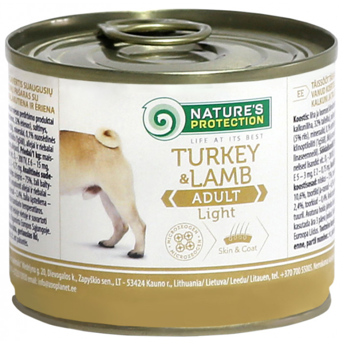 NATURE'S PROTECTION Dog Adult Light Turkey&Lamb Konservuotas pašaras