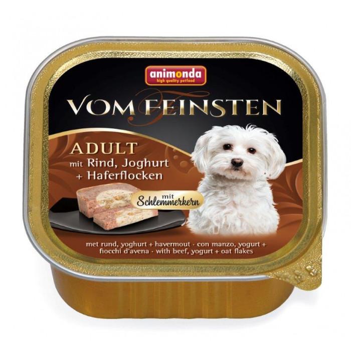 ANIMONDA Vom feinsten schlemmerkern Konservuotas pašaras šunims su jautiena, jogurtu ir avižų dribsniais
