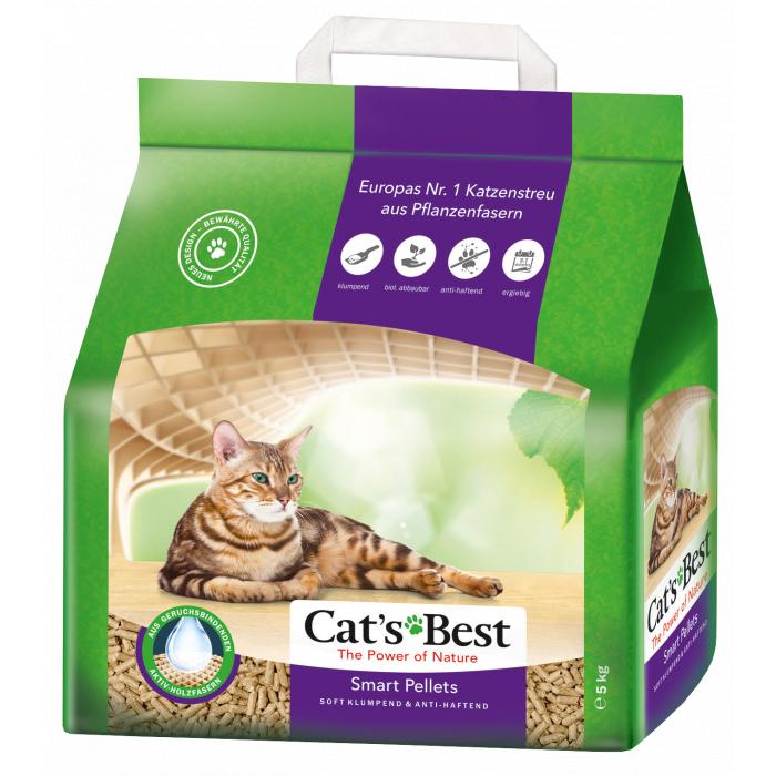 JRS CAT'S BEST SMART PELLETS Sušokantis medžio drožlių kraikas katėms