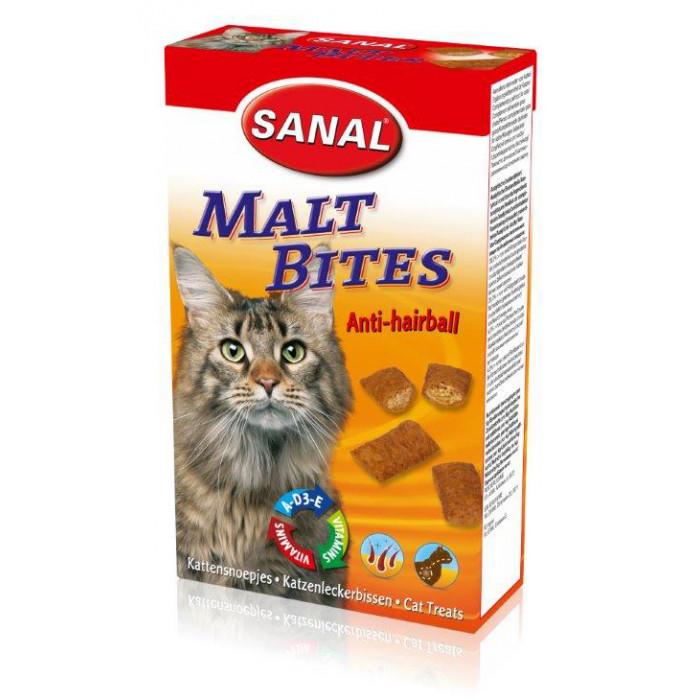SANAL Cat Malt Bits Anti-Hairball Papildas nuo sąvėlų katėms