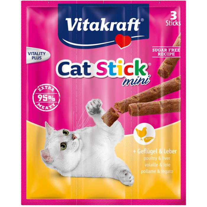 VITAKRAFT Cat-stick mini Katėms su paukštiena ir kepenėlėm