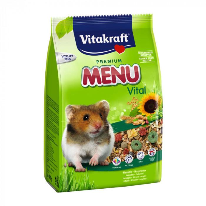 VITAKRAFT Menu Premium Hamster Pašaras su riešutais MR žiurkėnams