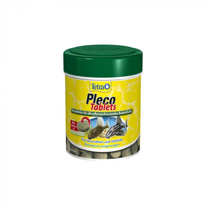 TETRA Pleco Tablets Pašaras žolėdėms dugninėms akvariumo žuvims