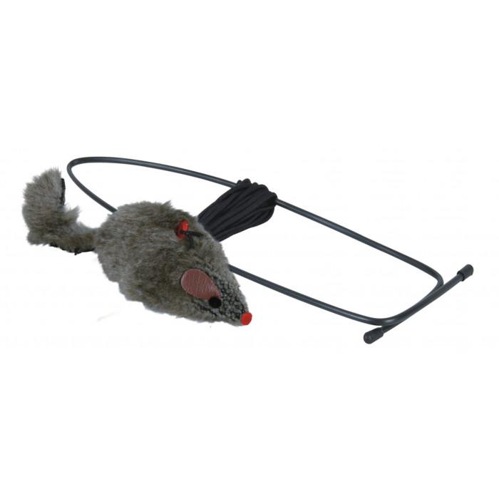 TRIXIE Žaislas katėms Pelė ant gumytės