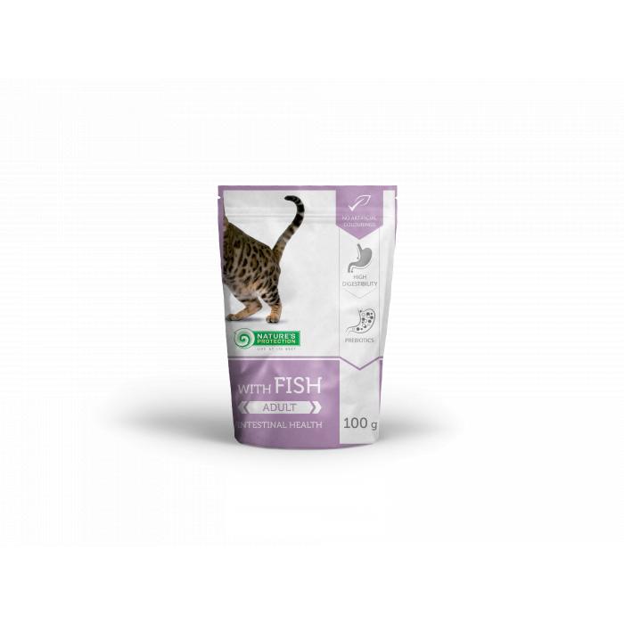 NATURE'S PROTECTION Intestinal health kons. pašaras katėms su žuvimis maišelyje,