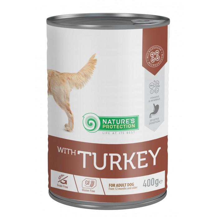 NATURE'S PROTECTION Sensitive Turkey Konservuotas pašaras šunims
