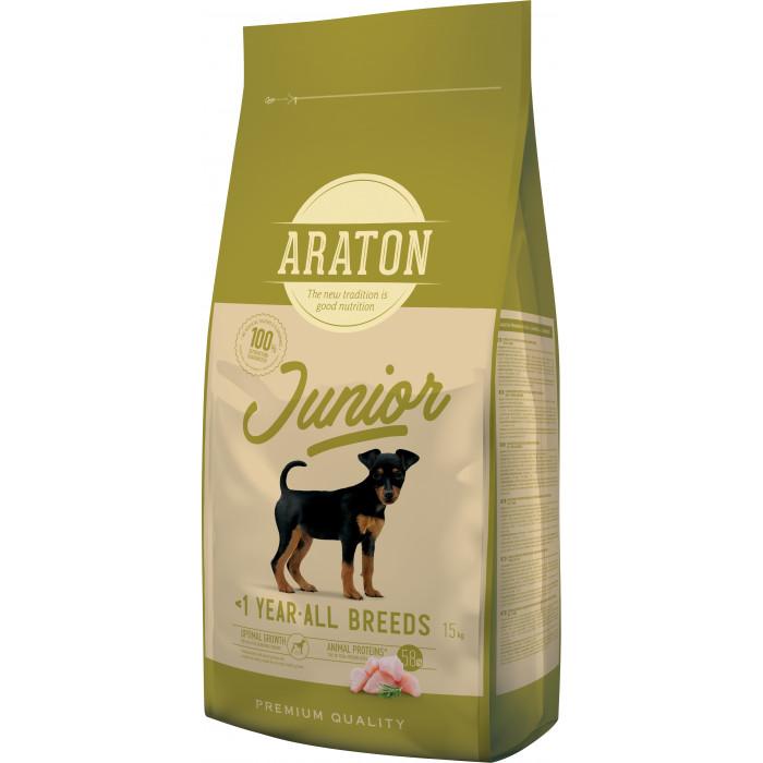 ARATON Junior Poultry Sausas pašaras šunims