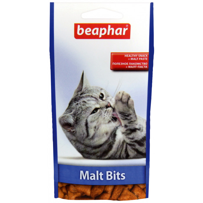 BEAPHAR Malt-bits cat Skanėstai-pagalvėlės su malt pasta