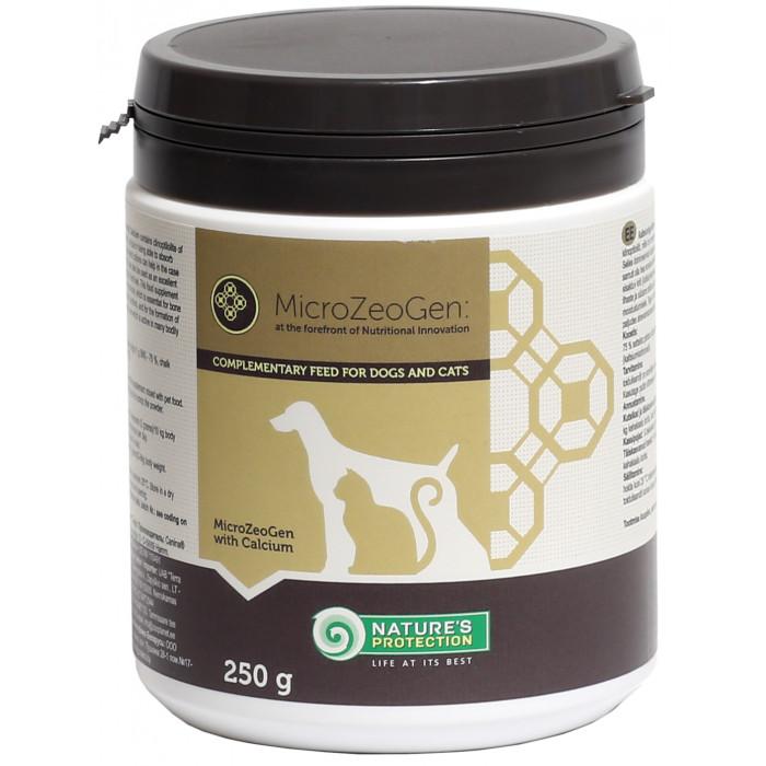 NATURE'S PROTECTION MicroZeoGen Pašaro papildas su kalciu šunims ir katėms