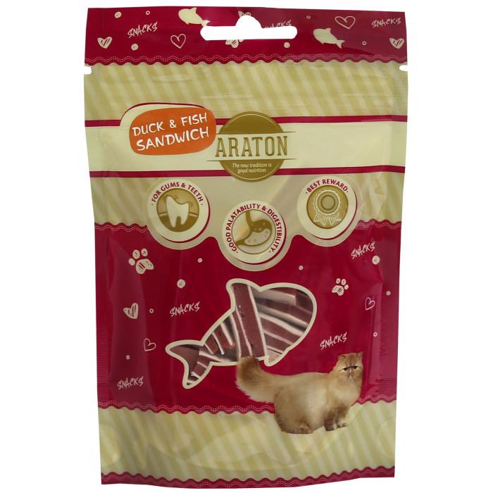 ARATON skanėstas katėms, antienos sumuštiniai