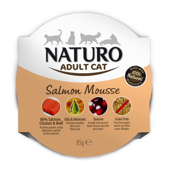 NATURO Cat Salmon Mousse Konservuotas pašaras