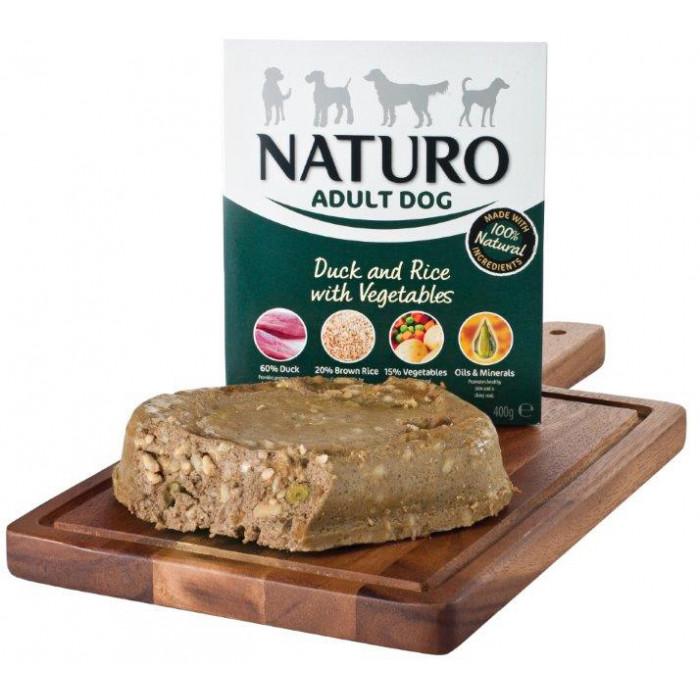 NATURO Adult Duck & Rice with Veg. Konservuotas pašaras šunims