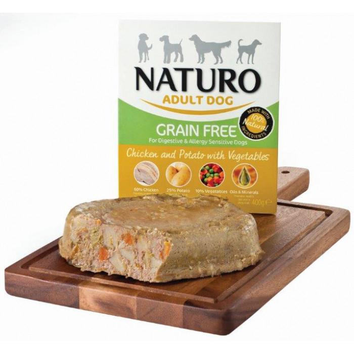 NATURO Grain Free Chicken & Potato with Veg. Konservuotas pašaras šunims