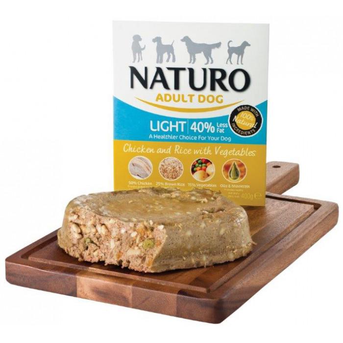 NATURO Light Chicken & Rice with Veg. Konservuotas pašaras šunims