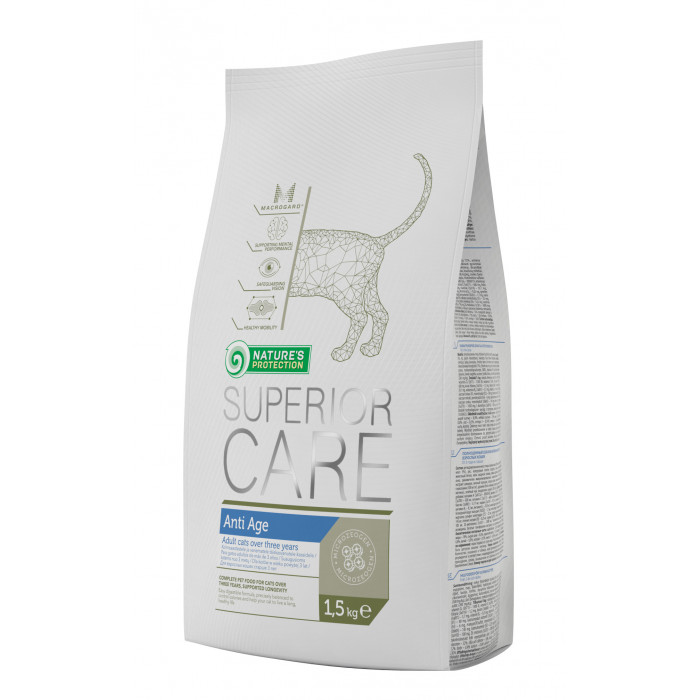 NATURE'S PROTECTION SUPERIOR CARE Anti Age Cat Pašaras katėms